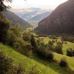 Vista panoramica della valle dal ristorante