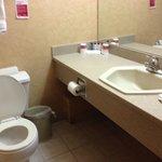 Bathroom is small!