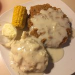 My chicken fried steak with mashed potatoes
