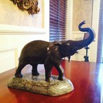 I love Elephants and this one was waiting for me in the room!