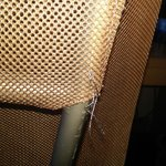 Loose threads on chair
