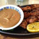 Satay Vege Meat BBQ on a Stick Appetizer