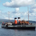 P.S. Waverley approaching Dunoon Pier on the Clyde, 23 August 2014.