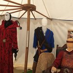 tent with costumes