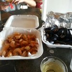 Best Shrimp and mussels