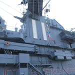 Tower of the aircraft carrier