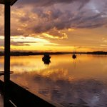 View from the cabins. Aquatic Caravan Park, photo by LORDYSIMAGES.
