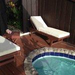 plunge pool area