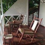 the porch of our villa