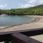 the resort beach