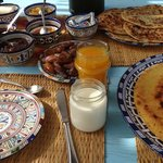Our delicious, very generous, Moroccan breakfast