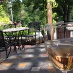 Beautiful afternoon on the patio.
