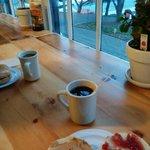 Vista do café da manhã - sem névoa dá pra ver a Golden Gate