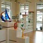 Love the glass sculpture