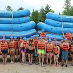 Student group rafting