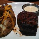 Filet w/Bernaise & Loaded Baked Potato