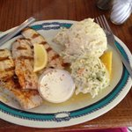 fish and amazing cole slaw and potato salad