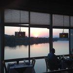 Sunset during dinner