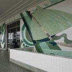 Second floor balcony murals
