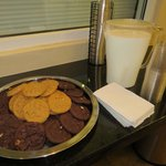 Yum! Milk and cookies