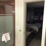Look from Bathroom into Master Bedroom