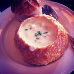 Bread Bowl - Clam Chowder! Mmmm!