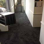 New carpets being layer throughout the property at the Apollo international