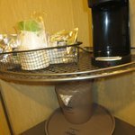 coffeepot provided in room