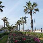 Promenade and beachfront outside the hotel
