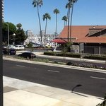 if ypu look between buildings, there IS a marina view. but even better, just go outisde to the b