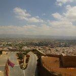 Beautiful Lorca beneath the Parador de Lorca.