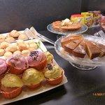Part of the breakfast buffet at Parador de Lorca.