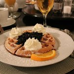 Belgian Waffles with Blueberries