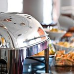 Hot and cold buffet meal for groups