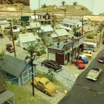 Model train layout