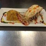 Rabo de langosta con mofongo... Realmente buena presentación y muy rico la comida... Love it...