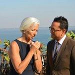 The Director F&B Abhishek Negi with Christine Lagarde, Director IMF