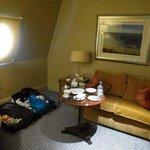 sitting area with porthole light. Executive King