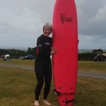 all ready for surfing at Croyde Bay