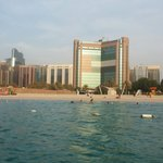 Abu dhabi corniche and beach