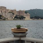 Fateh Prakash Palace view from the Ambrai restaurant. Good view and great food as well!!!