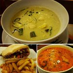 Green Curry, Shawarma Wrap and Tom Yum Soup