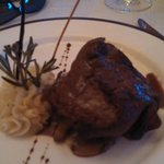 Yes that is the biggest filet minon I've had in a restaurant. This was the chefs main course at