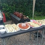 Hog and Buffet at our garden party