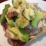 Avocado and Chicken Open Sandwich