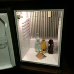 free mini bar was empty when I check in, but here it is stocked
