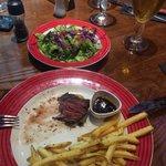 Fillet with chips & salad