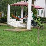 hammock just beside the pool