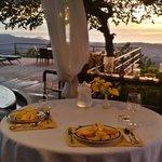 Sunset dinner on the deck