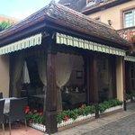 Restaurant in courtyard